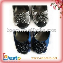 "SF0107 Crystal 2"" sequin bow shoe accessories for woman 2012"