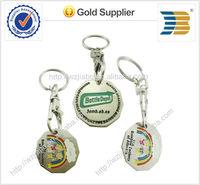 High quality metal custom trolley coin keychain token coin keychain