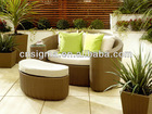 2014 Hot Sale Outdoor Wicker Sun air lounge sofa bed