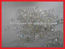 Iridescent clear glass beads