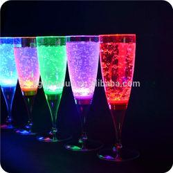 FDA grade plastic LED champagne glass