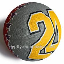 with custom logo printing cheap rubber Basketballs No 5