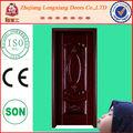 Lx-2068 barato de acero puerta de seguridad de metal de la puerta principal de la india diseños puerta