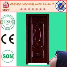 LX-2068 cheap steel security door metal door indian main door designs