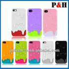 Thawy 3D Melt ice Cream Hard Cover Case,mobile phone case For iPhone 5 5G