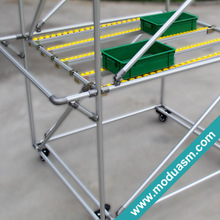 aluminum tube storage rack