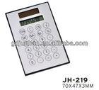 Solar power scientific super thin calculator