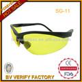 Sg-11 de nuit vision jaune lentille en plastique lunettes de sécurité en166f