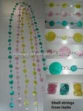 2014 wholesale new designed colorful capiz shell decorative door curtain