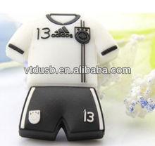 Sport shirt USB disk White USB flash drive Striped Jersey USB Drives Soccer fans Sport style disk pens