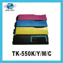 new printer toner TK-550 C/M/Y/K for kycoera printers