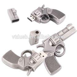 Promitional USB flash disk gun Metal USB flash disk handgun USB drive pen gun