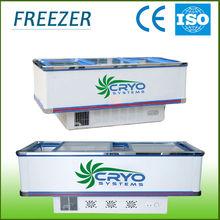 Double compressors island freezer showcase