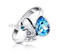 Ouxi Lovly anel de dedo projeto feito com cristal austríaco 40034