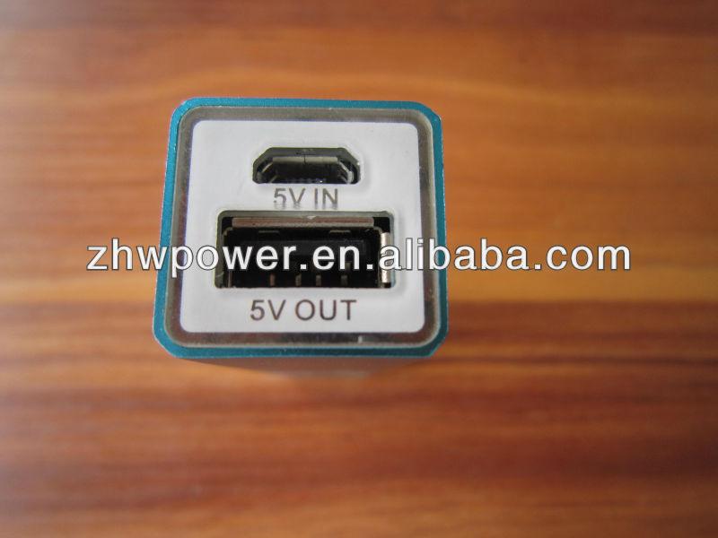 Shenzhen factory supply square portable power bank 1800mah/2200mah 2600mah mobile power for smartphone