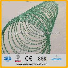 double strand 4 points Razor Type and Galvanized Surface Treatment barbed wire burglar , razor barbed wire machine