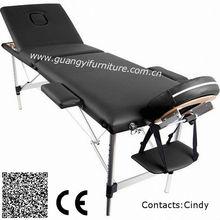 portable 3-section aluminum massae table