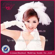 New Style Flower Bead Edge Tulle Wedding Veil