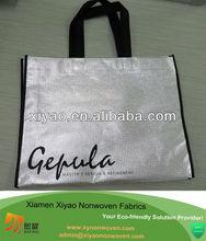 silver non woven laminated tote bags