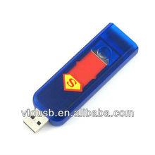 Plastic lighter USB flash drive pen flash card disk, Electronic lighter shape USB pen,Blue lighter drive pen disk
