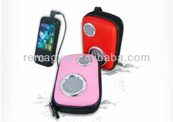 Outdoor bicycle MP3/phone portable music speaker bag