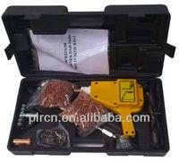 Autobody stud welder gun and slide hammer dent repair kit