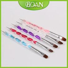 BQAN 5PCS Acrylic Handle Two Way Use Nail Art Brush Dotting Pen
