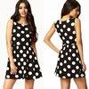 Latest dress designs oversized polka dot dress ladies dress