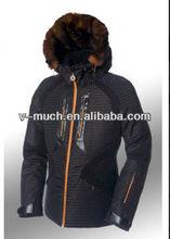 2014 New Fashion Designer Women Winter Coat With Fur Collar