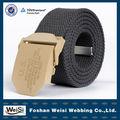 camello de moda de aleación hebilla de las correas de nylon cinturón de lona para la mujer