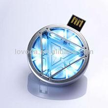 fashionable iron man 256gb usb flash drive Arc Reactor / usb flash drive 500gb/ bluetooth usb flash drive LFN-056