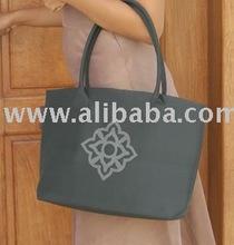 Eco Hand Bag in Natural 100% Silk Fairtrade Printed