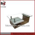 nouveau design italien moderne table basse en verre avec mdf
