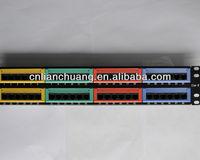 UTP 19 inch 2U 48 port RJ45 cat6 patch panel