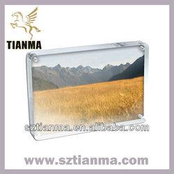 Hot sell cheap acrylic photo frame on desk deco