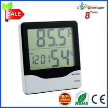 Digital Car LCD Temperature Sensor and Humidity Meter Thermometer Hygrometer Clock Alarm Calendar NEW