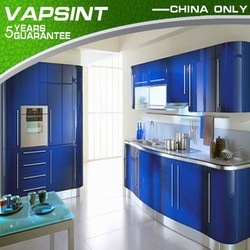 Blue color new design cost of a new kitchen
