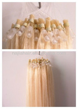 2013 new products 5a loop hair extension 100% micro ring hair extensions no chemical hair wholesale