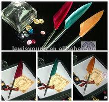 Vintage quill dip pen & Retro artistic feather dip pen set