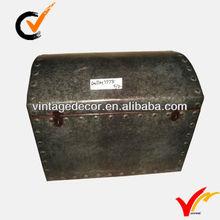 metal antique storage trunk