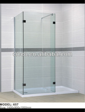 Hot Sell Square Tempered Glass Walk In Bathtub With Shower