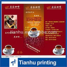 beautiful tea culture folded leaflet printing