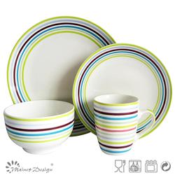 round stoneware cheap handpainting crokery dinner set