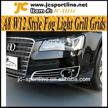 Genuine OEM Parts A8 W12 Style Fog Lamp Grill Grids,A8 Fog light Grille Cover For Audi A8