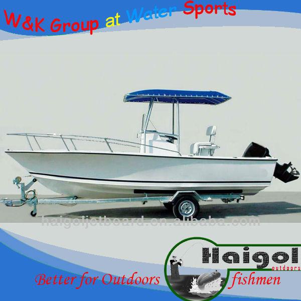 2013 venda quente 19ft frp centro console barco de pesca/barco de fibra de vidro