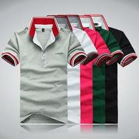 Hot sales ! 100% cotton korean style fashion mens polo shirts