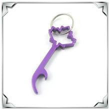 key shape bottle opener aluminium keyring