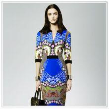 Fashion style digital printing silk fabric