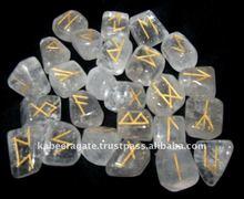 Wholesale Tumble Runes:Crystal Quartz Runes Set