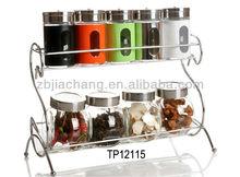 glass spice bottle set TP12115